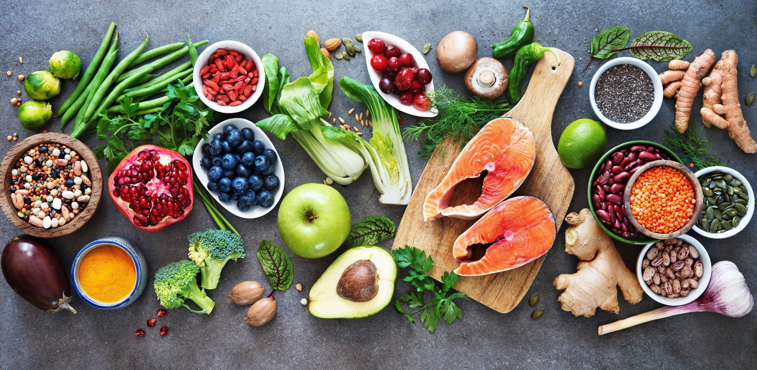 Set of various fresh exotic fruits